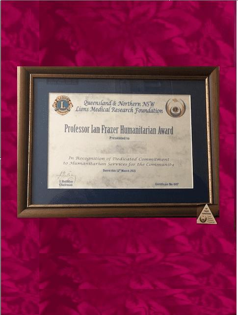 Prof Ian Frazer Humanitarian Award 1